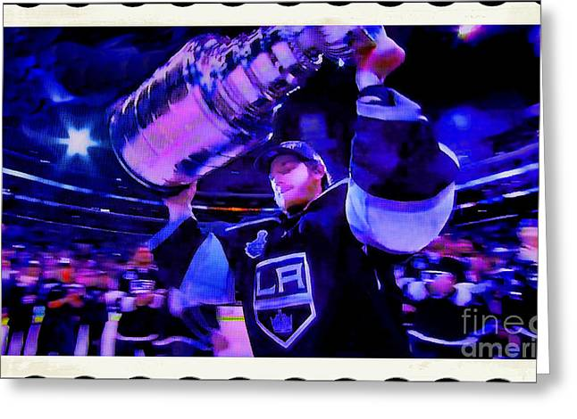 Staples Center Greeting Cards - Los Angeles Kings 2012 Greeting Card by RJ Aguilar