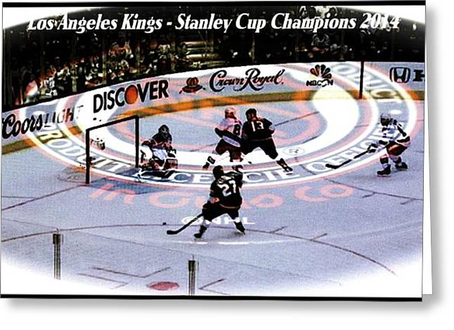 Los Angeles Kings 2014 Greeting Card by RJ Aguilar