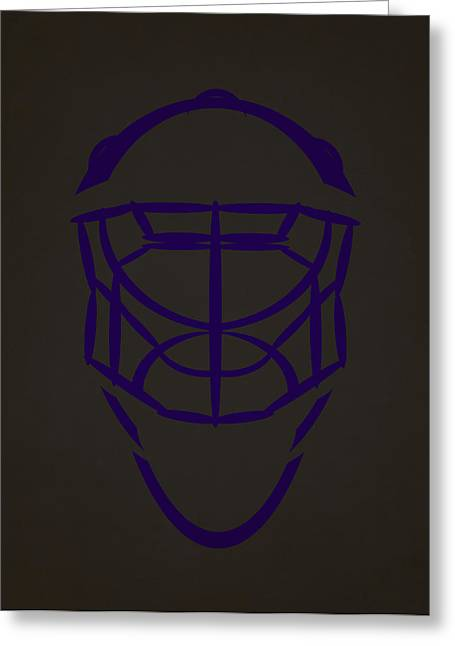King Greeting Cards - Los Angeles Kings Goalie Mask  Greeting Card by Joe Hamilton