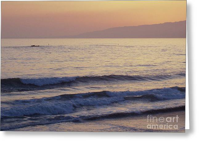 California Ocean Photography Greeting Cards - Los Angeles Sunset Greeting Card by John Telfer