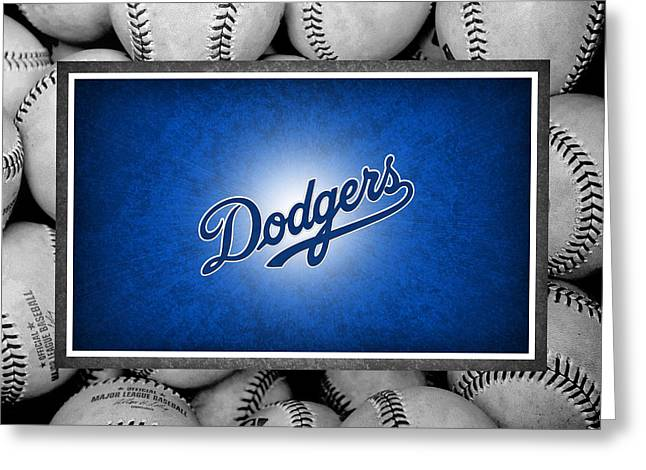 Dodger Stadium Greeting Cards - Los Angles Dodgers Greeting Card by Joe Hamilton
