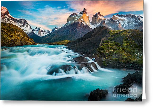 Torre Greeting Cards - Los Cuernos Fairyland Greeting Card by Inge Johnsson