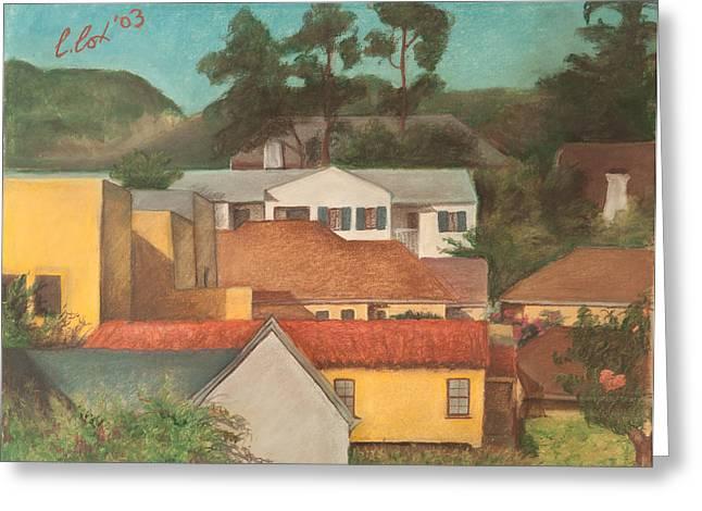 Los Angeles Pastels Greeting Cards - Los Feliz Hills Greeting Card by Claudia Cox