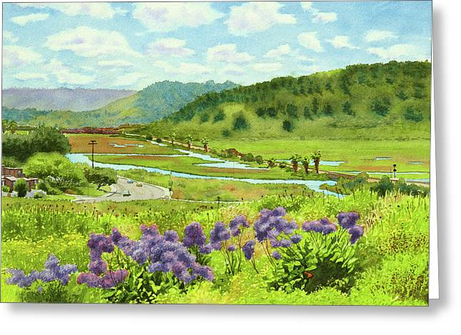 Grassland Greeting Cards - Los Penasquitos Looking East Greeting Card by Mary Helmreich