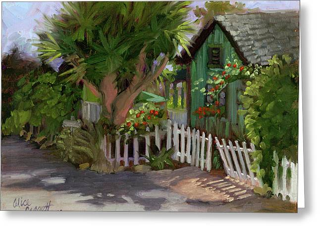Trellis Paintings Greeting Cards - Los Rios Street San Juan Capistrano California Greeting Card by Alice Leggett