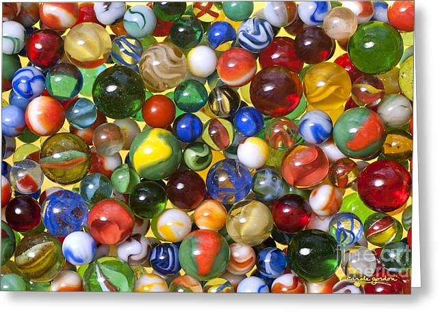 Toys Greeting Cards - Lose Your Marbles Greeting Card by Carole Gordon
