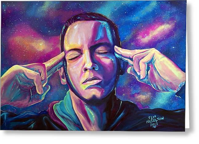 Eminem Paintings Greeting Cards - Lose Yourself Greeting Card by Tim Hazelton