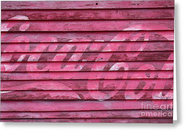 Coca-cola Mural Greeting Cards - Losing its Fizz Greeting Card by James Brunker