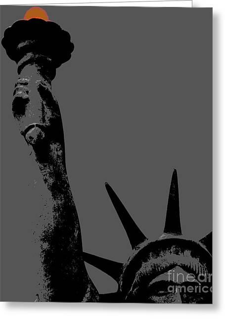 Tea Party Greeting Cards - Losing Liberty Greeting Card by Joe Jake Pratt