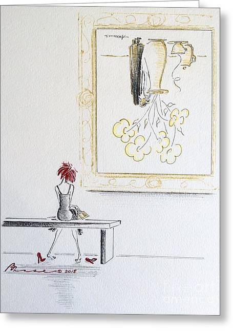 Amusements Greeting Cards - Losing Perspective Greeting Card by Barbara Chase