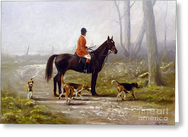 Equestrian Prints Greeting Cards - Losing the scent Greeting Card by John Silver