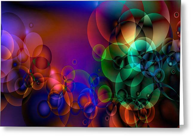 Abstract Orbs Greeting Cards - Lost 1 Greeting Card by Angelina Vick