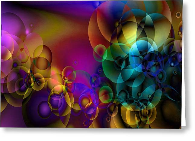 Abstract Orbs Greeting Cards - Lost 2 Greeting Card by Angelina Vick