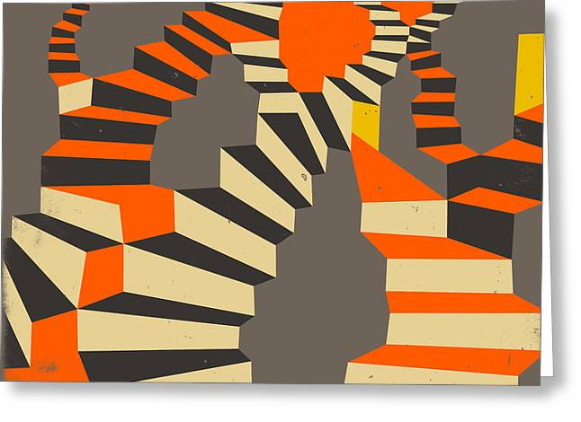Abstract Surrealism Digital Art Greeting Cards - Lost And Found Greeting Card by Jazzberry Blue