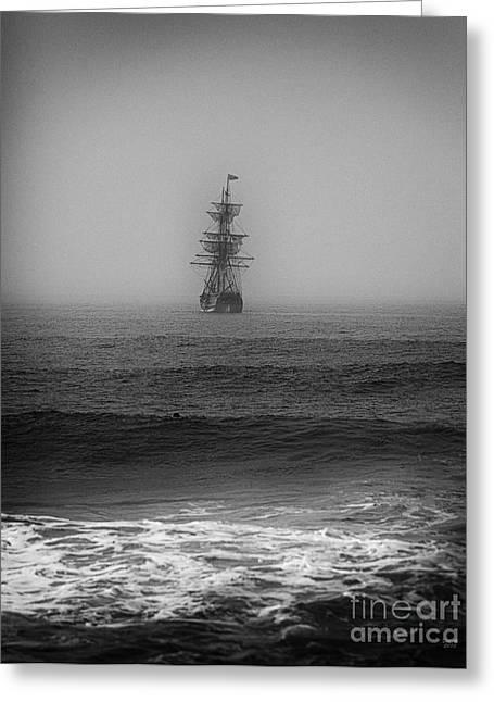 Fog At Sea Greeting Cards - Lost at Sea Greeting Card by David Millenheft