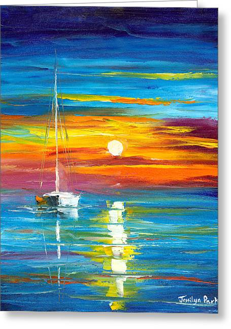 Jessilyn Park Greeting Cards - Lost at Sea Greeting Card by Jessilyn Park