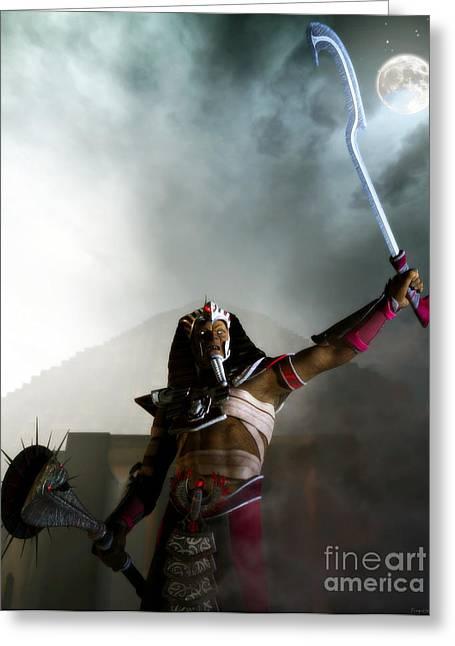 Lost Dynasty Greeting Card by Gabor Gabriel Magyar - Forgottenangel