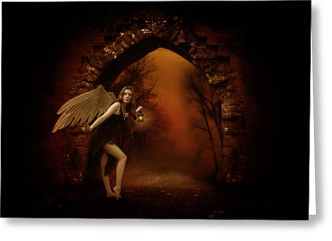 Seraphim Angel Greeting Cards - Lost Fairy Greeting Card by Ester  Rogers