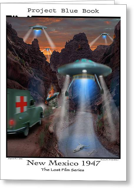 Ufo Greeting Cards - Lost Film Number 3 Greeting Card by Mike McGlothlen