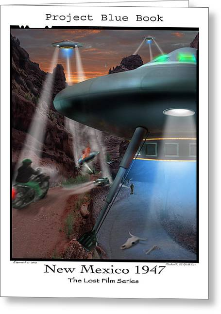 Ufo Greeting Cards - Lost Film Number 4 Greeting Card by Mike McGlothlen