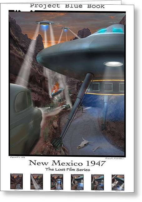 Spacecraft Greeting Cards - Lost Film Number 5 SE Greeting Card by Mike McGlothlen