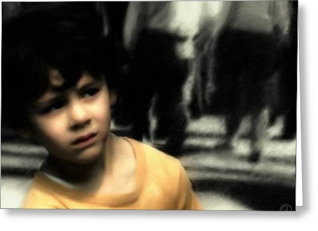 Lost Boy Greeting Cards - Lost Greeting Card by Gun Legler