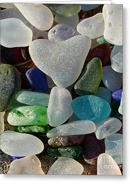 Stones Glass Art Greeting Cards - Lost Heart Found Greeting Card by Barbara McMahon