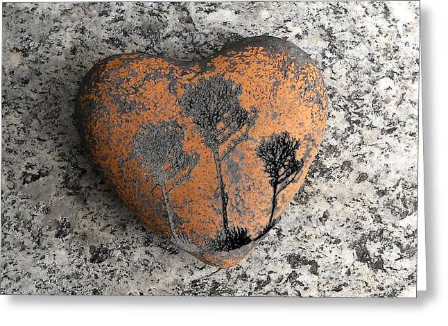 Stein Greeting Cards - Lost Heart Greeting Card by Juergen Weiss