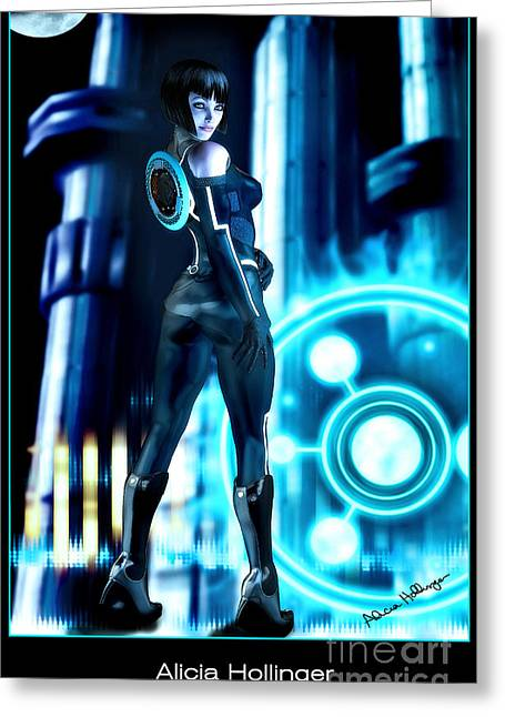 Best Sellers -  - Tron Greeting Cards - Tron Quorra Greeting Card by Alicia Hollinger