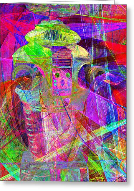 Hi-tech Greeting Cards - Lost In Abstract Space 20130611 long version Greeting Card by Wingsdomain Art and Photography