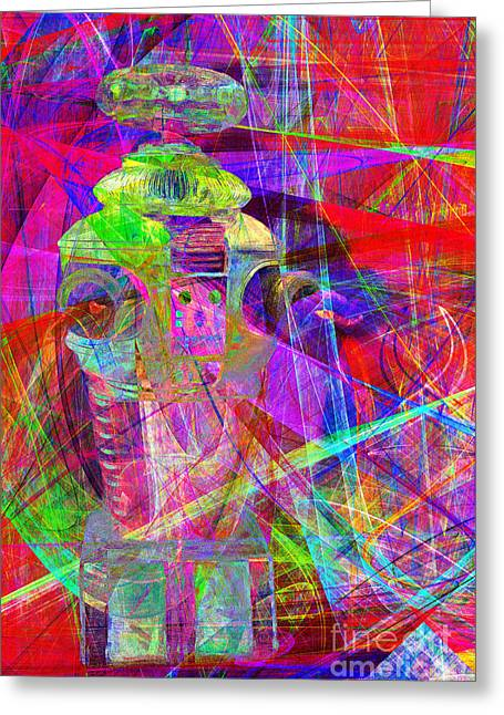 Hi-tech Greeting Cards - Lost In Abstract Space 20130611 Greeting Card by Wingsdomain Art and Photography