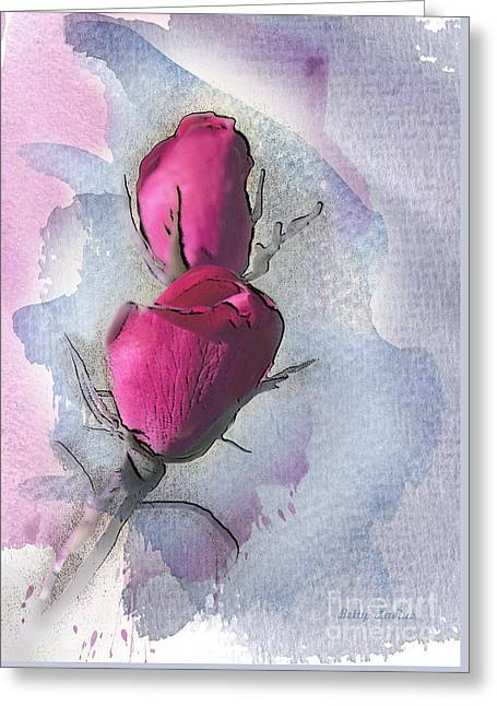 Floral Digital Art Greeting Cards - Lost in Beauty 2 Greeting Card by Betty LaRue