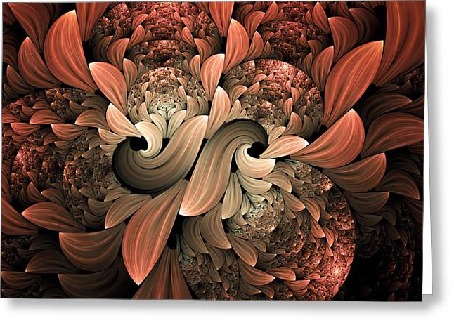 Asymmetrical Greeting Cards - Lost In Dreams Abstract Greeting Card by Georgiana Romanovna