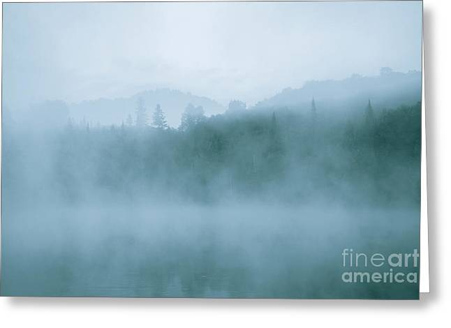 Lost In Fog Over Lake Greeting Card by Jola Martysz