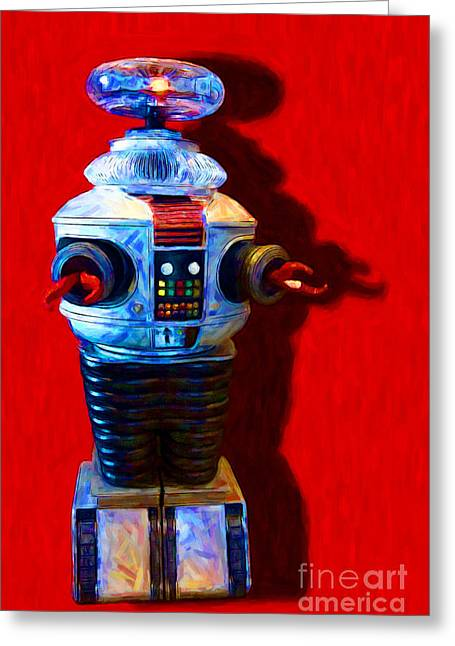 Hi-tech Greeting Cards - Lost In Space Robot - 20130117 Greeting Card by Wingsdomain Art and Photography