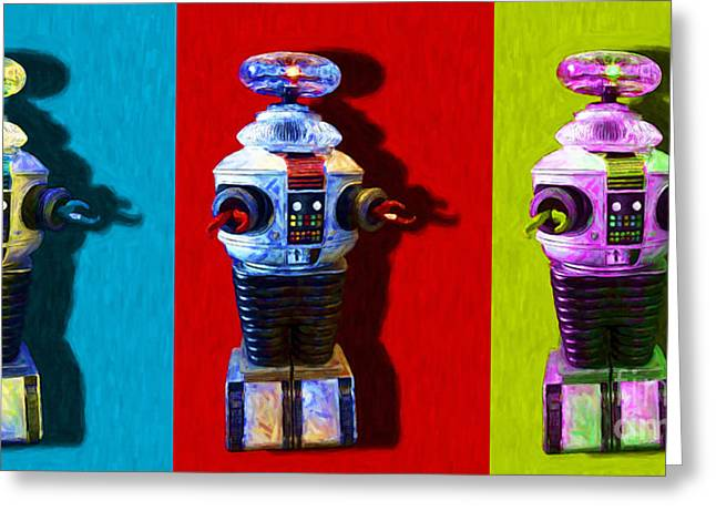 Hi-tech Greeting Cards - Lost In Space Robot 3 - 20130117 Greeting Card by Wingsdomain Art and Photography