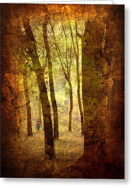 Fantasy Tree Art Greeting Cards - Lost in the DreamLand Woods Greeting Card by Jenny Rainbow
