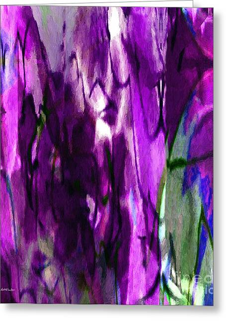 Purple Robe Greeting Cards - Lost in the Marketplace Greeting Card by RC DeWinter