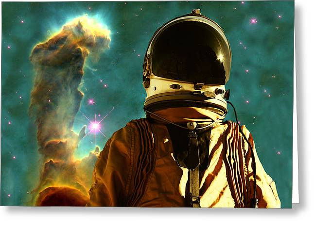 Science Fiction Digital Greeting Cards - Lost in the star maker Greeting Card by Matthew Lacey