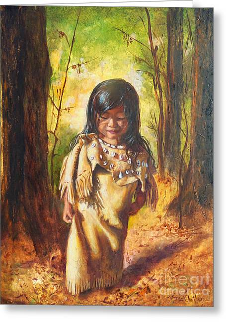 Chatham Paintings Greeting Cards - Lost In The Woods Greeting Card by Karen Kennedy Chatham