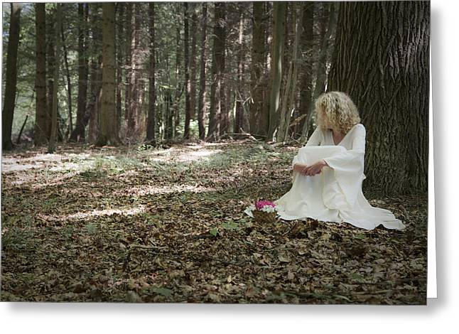 Lonelyness Greeting Cards - Lost in thoughts Greeting Card by Maria Heyens
