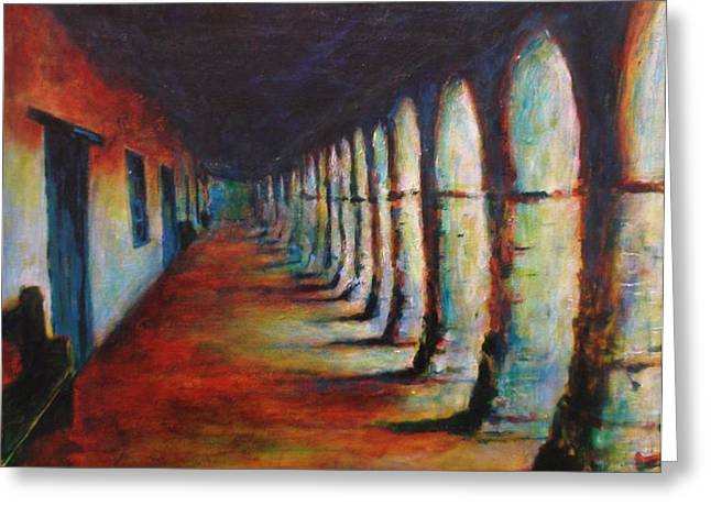 San Juan Bautista Greeting Cards - Lost in Transition Greeting Card by Valerie Greene