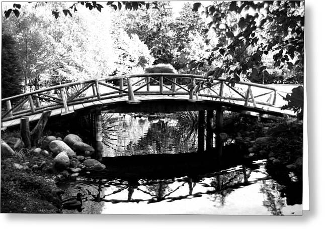Lost Eyes Greeting Cards - Lost Lagoon Bridge  Greeting Card by Will Borden