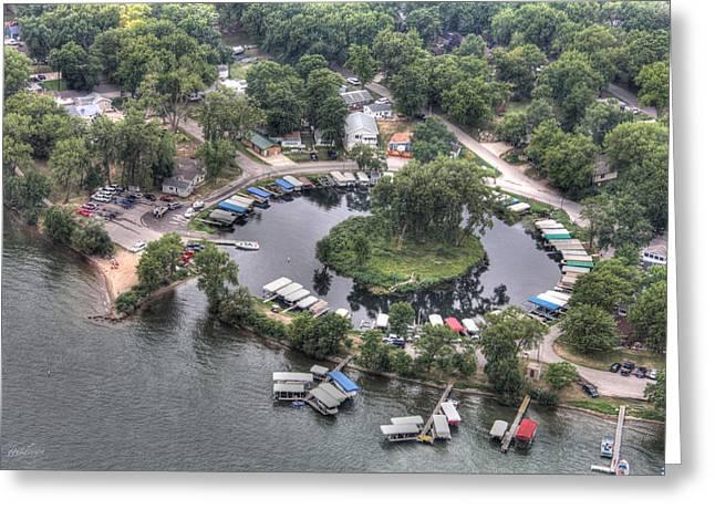 Okoboji Greeting Cards - Lazy Lagoon - West Lake Okoboji II Greeting Card by Gary Gunderson