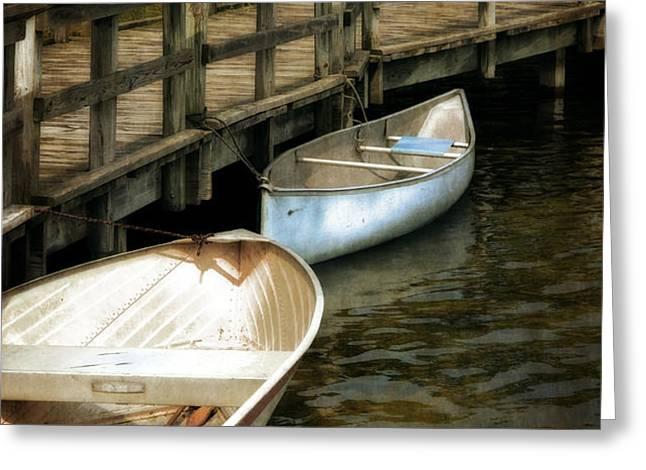Lost Lake Boardwalk Greeting Card by Michelle Calkins