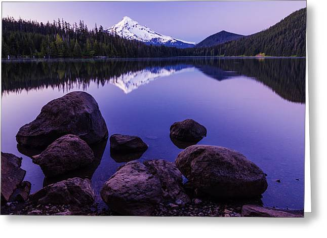Reflections Of Sky In Water Greeting Cards - Lost lake serenity Greeting Card by Vishwanath Bhat