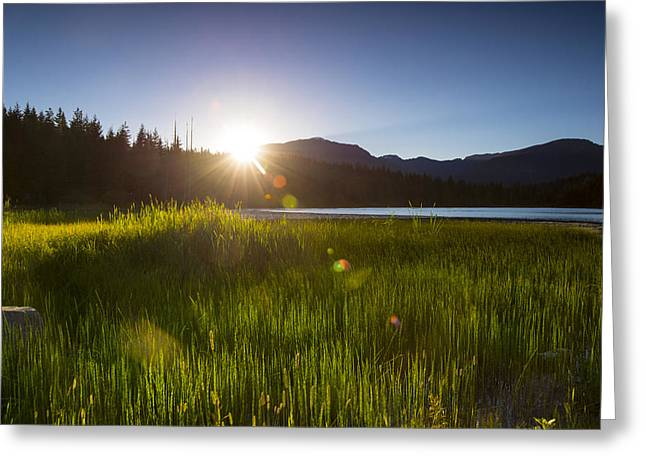Hiking Greeting Cards - Lost Lake Sunset Greeting Card by Aaron S Bedell
