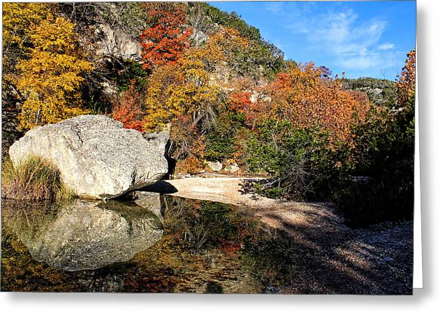 Usa Photographs Greeting Cards - Lost Maples Reflection Greeting Card by Judy Vincent