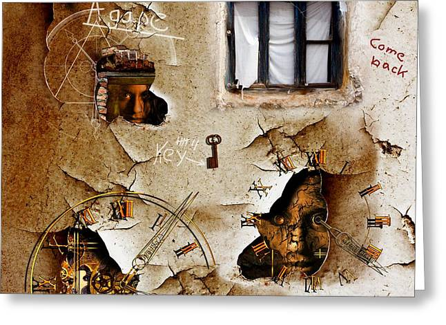3d Greeting Cards - Lost memories behind my longing window Greeting Card by Franziskus Pfleghart