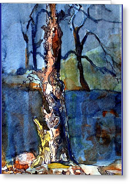 Surreal Landscape Mixed Media Greeting Cards - Lost Memories Greeting Card by Mindy Newman